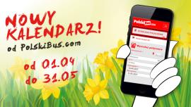 Wiosenne podróże z PolskiBus.com Turystyka, BIZNES - * PolskiBus.com otwiera nowy kalendarz na podróże od 1 kwietnia aż do 31 maja * Tysiące biletów w cenach rozpoczynających się od 1 zł + 1 zł opłaty za rezerwację są już dostępne na stronie internetowej www.PolskiBus.com * Nowe terminy podróży obejmują również linie partnerskie